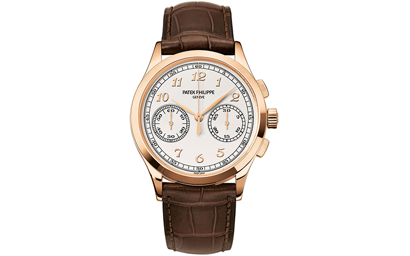 Patek Philippe Chronograph 5170 Manual winding Yellow gold case Crocodile  skin Men s watch Unisex CH f5adee62af