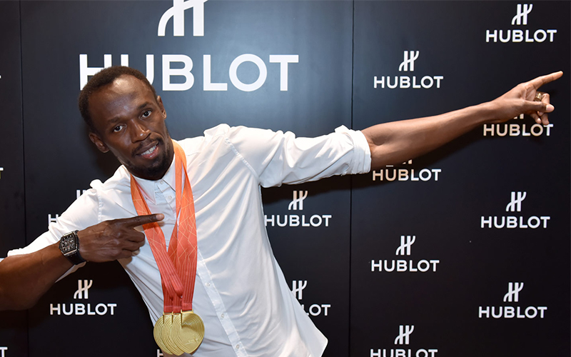 Hublot Ambassadors Usain Bolt Lightning Bolt track runner fastest man of all time