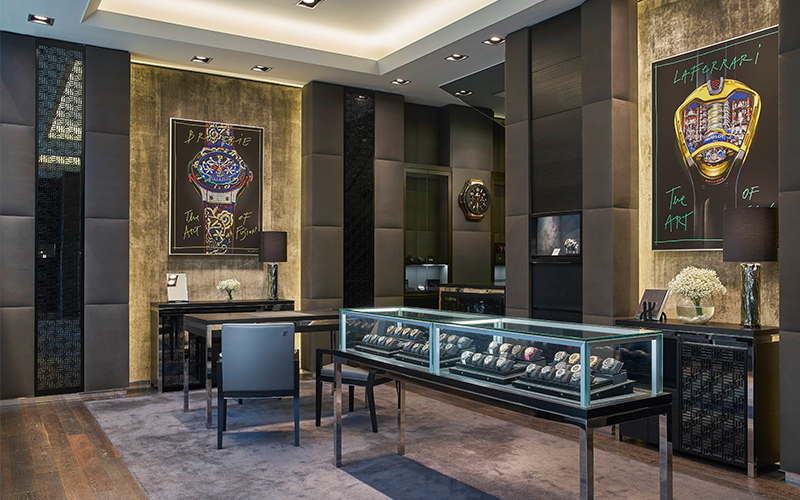 Hublot first stand alone boutique in Singapore new look