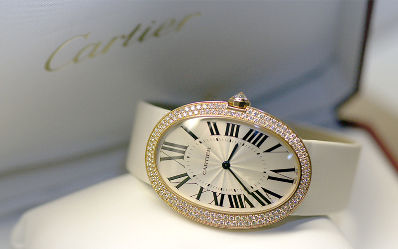 Cartier Baignoire WB520005 Automatic Rose gold case 430 MC caliber Sapphire Glass Silver dial