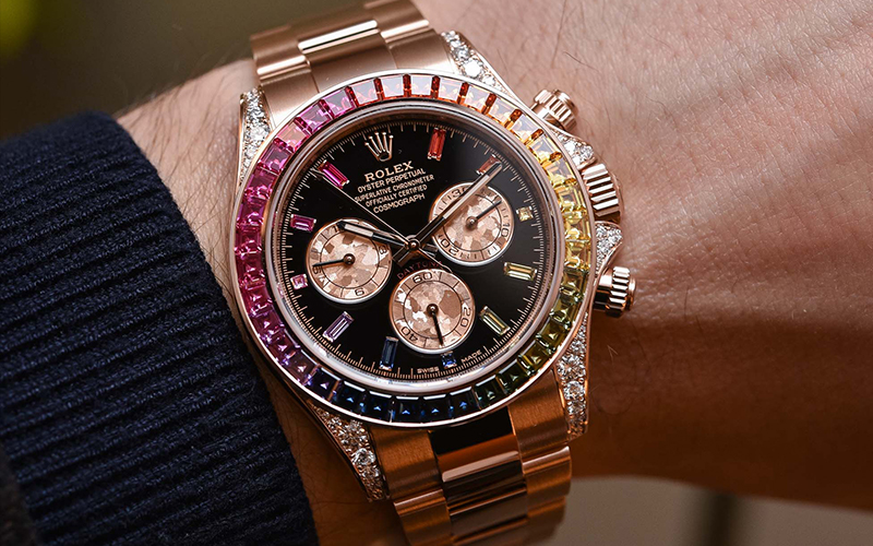 The True Colours Of Rolex , The Daytona Rainbow , The Hour Glass