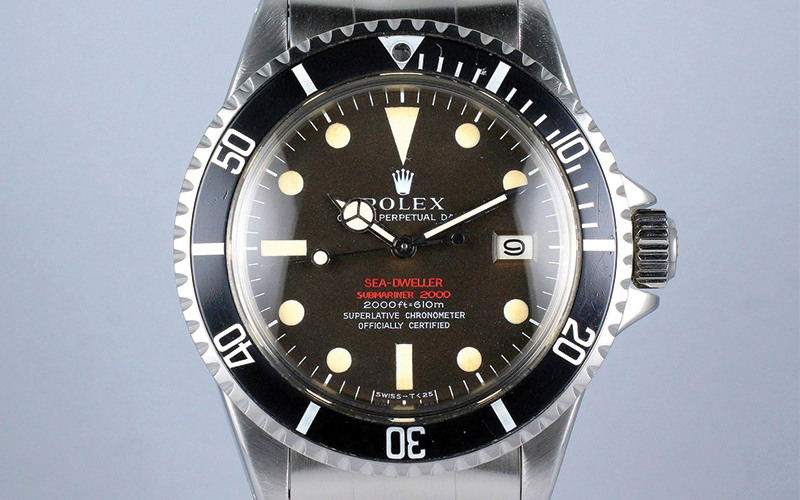 Rolex Oyster Perpetual Date Sea Dweller 126600 Single Red Automatic