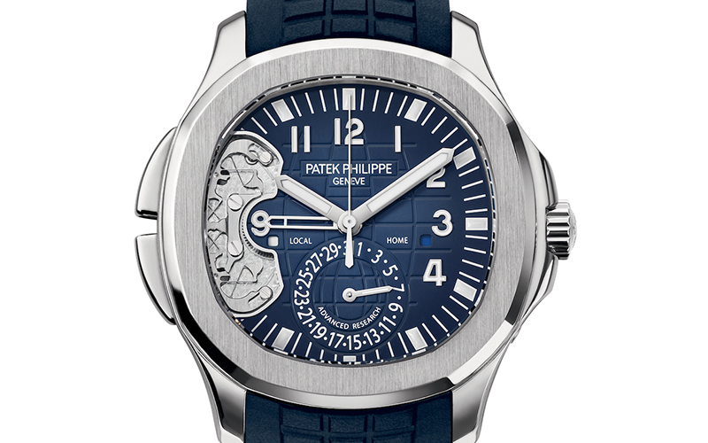 Patek Philippe Aquanaut 5650G Automatic White gold case Rubber bracelet Men's watch/Unisex Sapphire Glass Blue dial