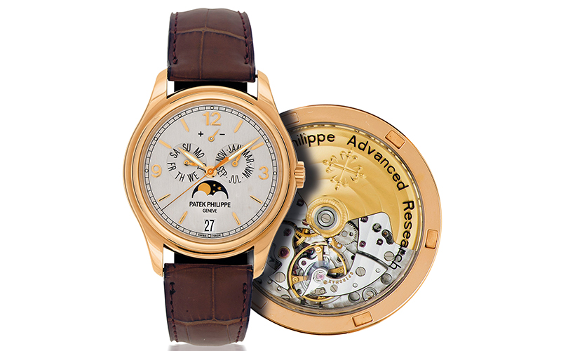 Patek Philippe Annual Calendar 5350R-001 Automatic Rose gold Crocodile skin Men's watch/Unisex Grey dial Moonphase Date Annual calendar