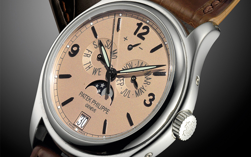 Patek Philippe Annual Calendar 5450P Automatic Platinum case Leather bracelet Men's watch/Unisex Moonphase Date Annual calendar Luminescent Hands Power Reserve Display Limited Edition