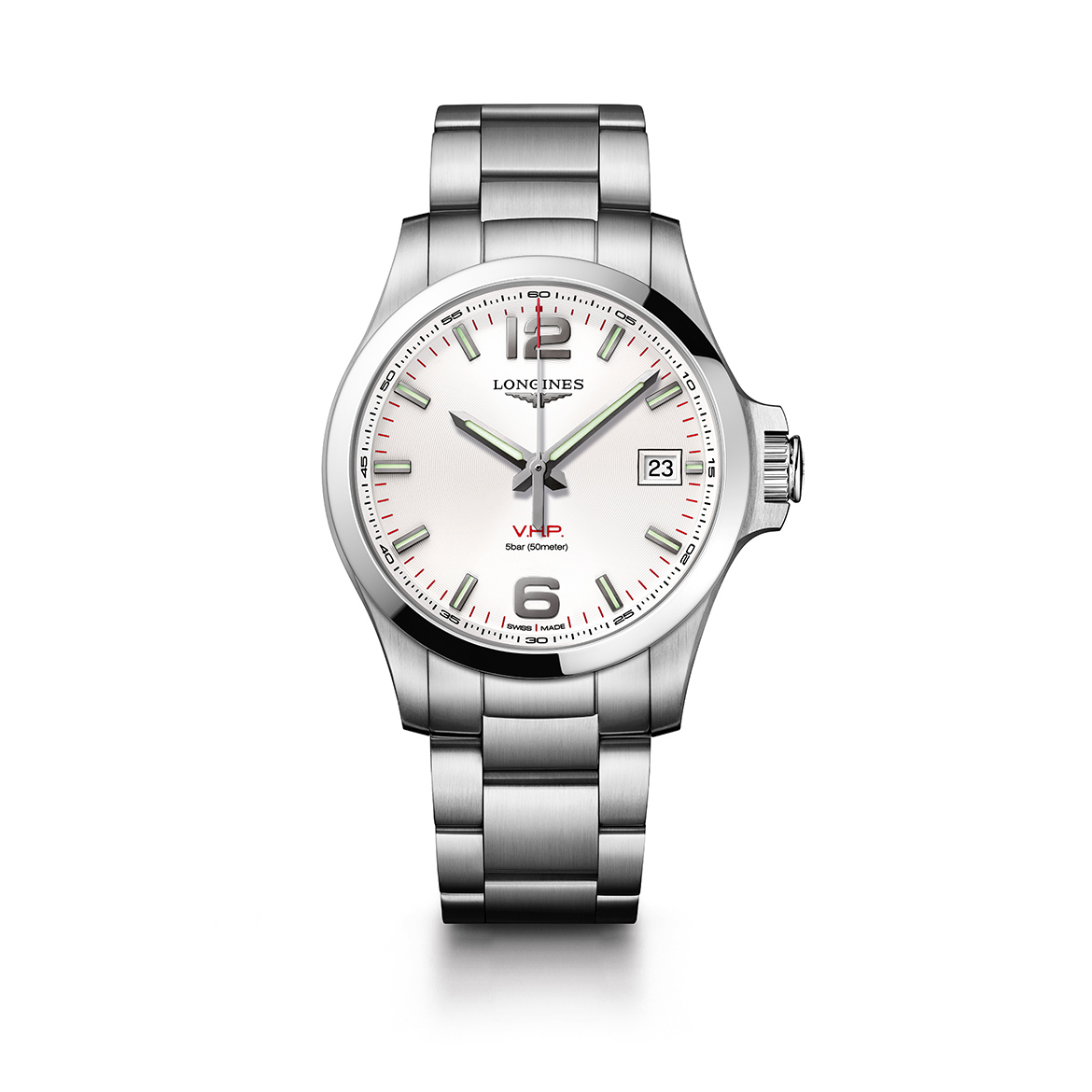 Longines Conquest V.H.P. 41mm Silver Dial image