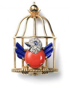 Cartier Toussaint caged nightingale brooch