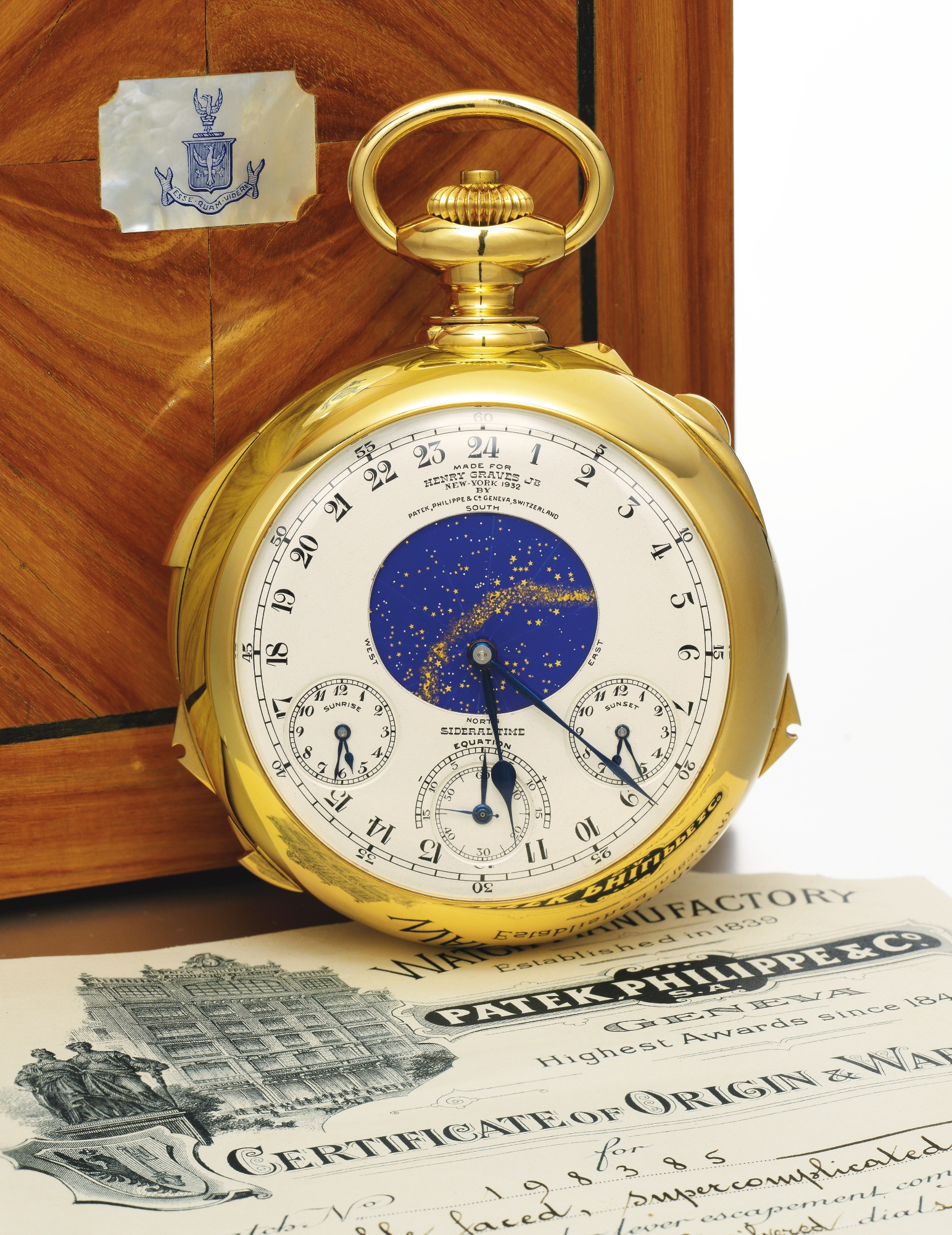 Patek Philippe Henry Graves Jr. Supercomplication Patek Philippe   Co. 87eae65280