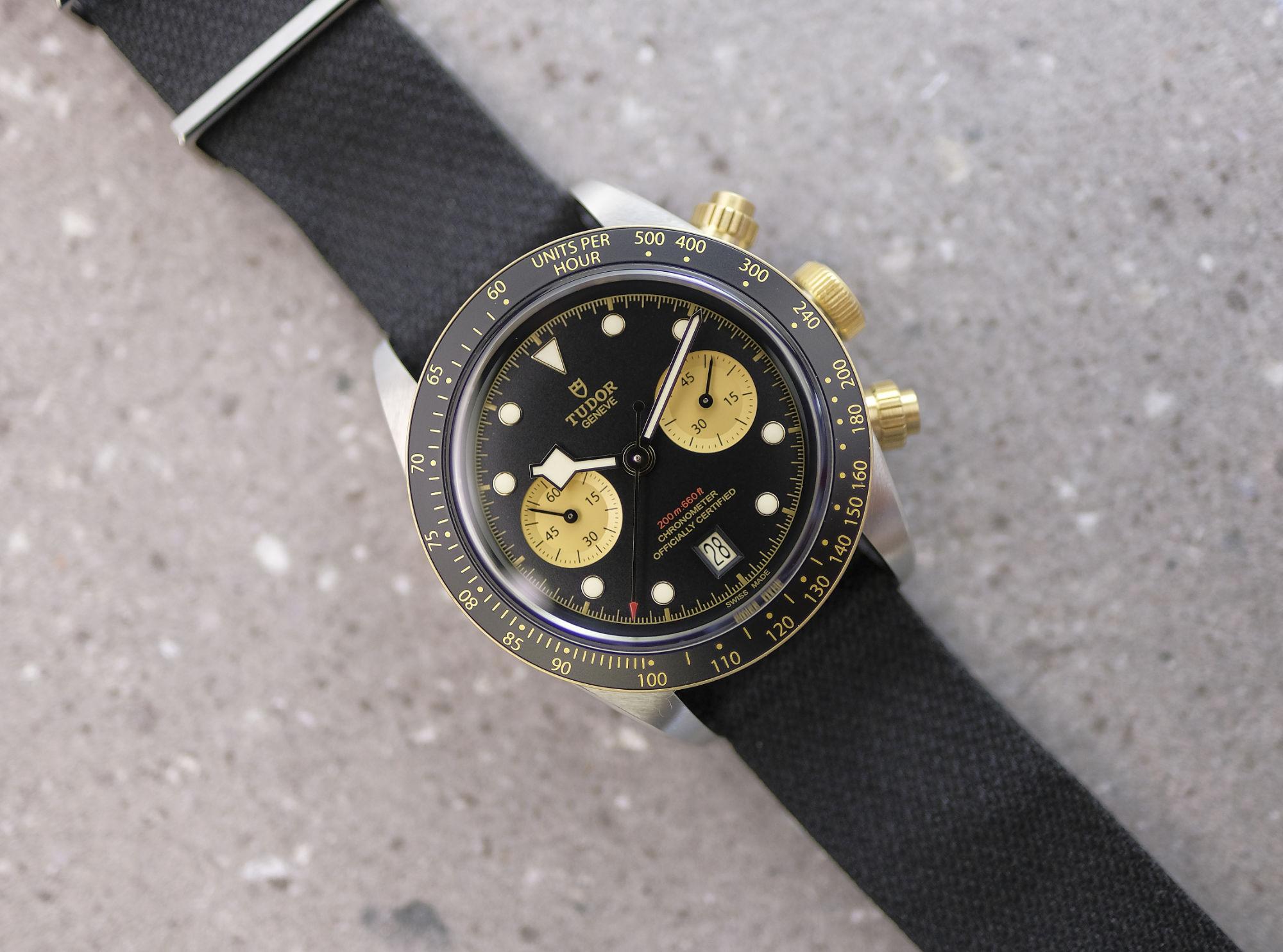 cfea5cbcbda Tudor's Black Bay Chrono in S&G - The Hour Glass