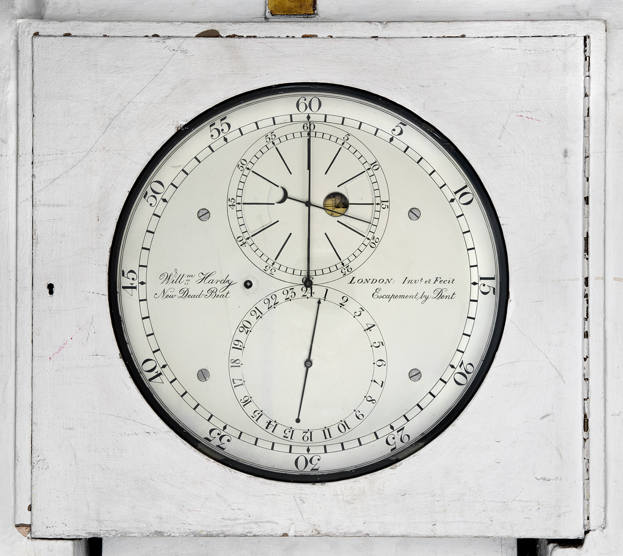 Eight Day Sidereal Regulator, Mounted Within Stone Block At
